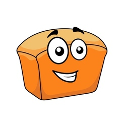 Loaf of crusty white bread with a happy face vector image vector image