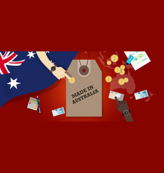 Made in australia price tag badge vector
