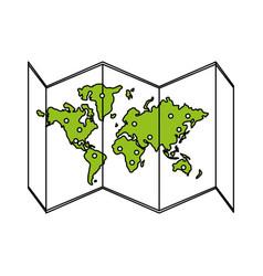 Map icon design vector