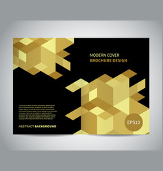 modern brochure design with isometric gold pattern vector image vector image