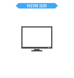 monitor flat icon vector image
