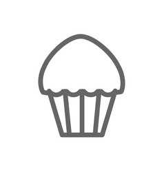monochrome line muffin icon on white background vector image