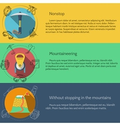Mountaineering equipment flat color vector image