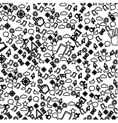 Pattern sketch silhouette communication tech vector