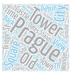Prague city guide text background wordcloud vector