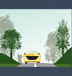 Road in wood vector