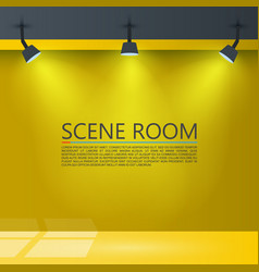 room with a light source vector image vector image