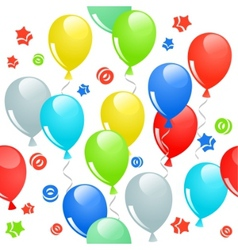seamless pattern with balloons vector image vector image