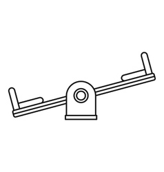 Seesaw on a playground icon outline style vector image