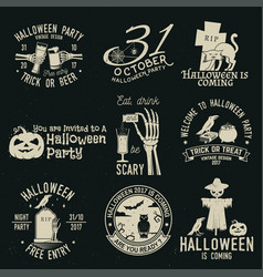 set of halloween celebration collection vector image vector image