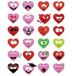smiley hearts vector image vector image