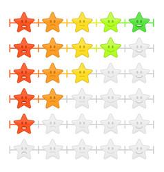 Stars feedback emoticon bar vector