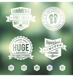 Summer Sale Vintage Badges Set vector image