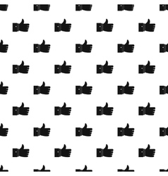 Thumb up pattern simple style vector