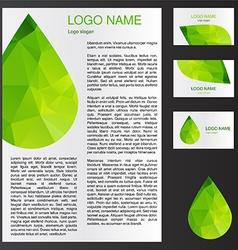 Triangle logo of drop ecology logo vector