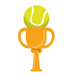 trophy tennis ball winner vector image