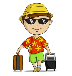 vacation outfit man vector image