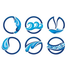 Wave symbols vector image