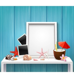 Realistic blank frame template vector