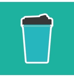 Drink thermo cup vector image