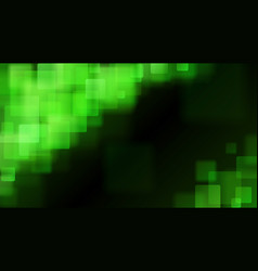 Green abstract background of blurry squares vector