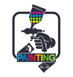 Sprayer for painting symbol vector