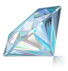 Diamond side view isolated vector