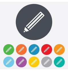 Pencil sign icon edit content button vector
