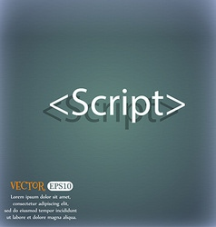 Script sign icon javascript code symbol on the vector
