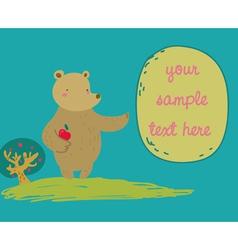 bear shows a message vector image