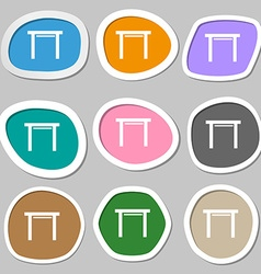 Stool seat icon sign multicolored paper stickers vector