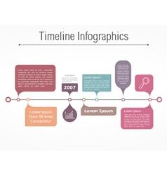 Timeline elements vector