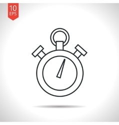 Color flat stopwatch icon vector