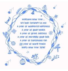 New year wishes vector