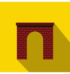 Brick arch icon flat style vector