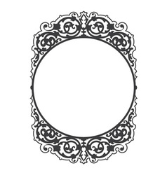 Antique decorative frame vector