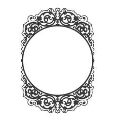 Antique decorative frame vector