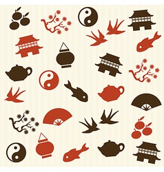 Asian seamless pattern vector image vector image