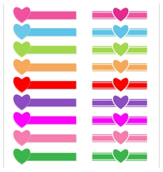 Banner heart vector image