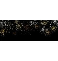 Black banner with original stars vector