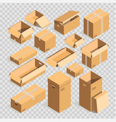 carton paper box or cardboard post package vector image