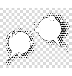 Comic speech bubbles with halftone shadows vector image