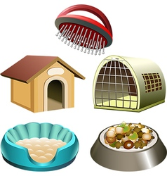 Dog accessories set vector