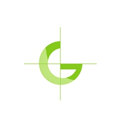 G letter green ecology logo vector image vector image