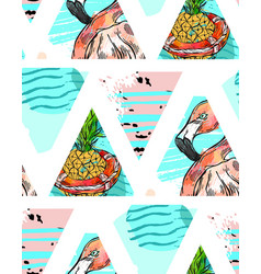 hand made exotic seamless pattern with tropical vector image vector image
