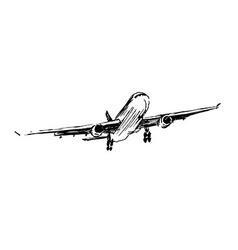 Hand sketch plane vector