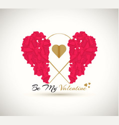 Happy valentines day be my valentine vector