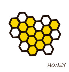 honey comb icon for beekeeping on vector image vector image