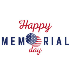 Isolated memorial day label vector