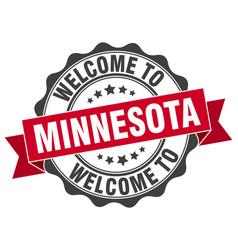 Minnesota round ribbon seal vector